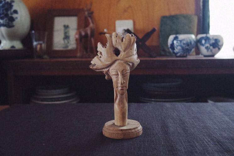 キノコの木質化オブジェ